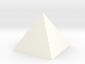 Pyramid Small in White Processed Versatile Plastic