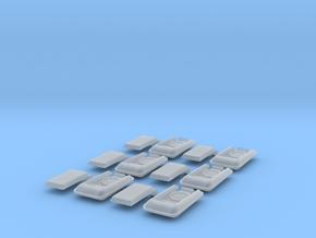 1:6 Original Series Flip Radios x6 in Smooth Fine Detail Plastic