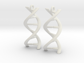 DNA Earrings in White Natural Versatile Plastic