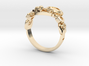 Mech Heart Ring in 14k Gold Plated Brass: 6 / 51.5