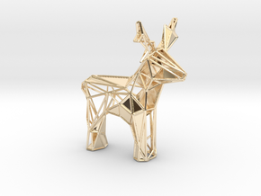 Reindeer toy stl in 14K Yellow Gold