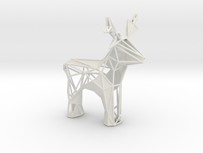 Reindeer toy stl in White Natural Versatile Plastic