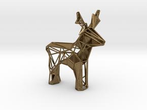 Reindeer toy stl in Natural Bronze