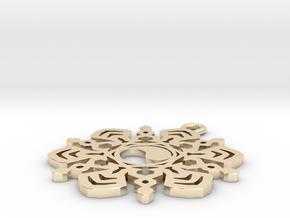 Yin Yang Snowflake Pendant in 14K Yellow Gold