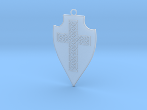Knot Cross Shield 001 in Smooth Fine Detail Plastic
