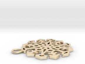Snowflake Pendant #3 in 14K Yellow Gold