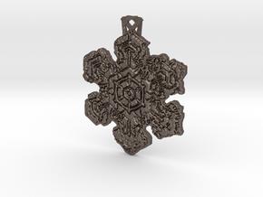 Frozen Star Pendant in Polished Bronzed Silver Steel