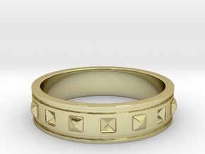 Ring with Studs - Size 8 in 18k Gold Plated