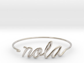 NOLA Wire Bracelet (New Orleans) in Rhodium Plated Brass