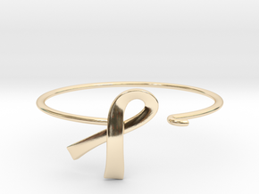 Ribbon Wire Bracelet in 14k Gold Plated Brass