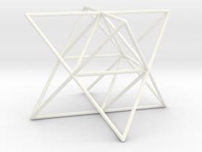 Octocedron Elevatus Vacuus in White Processed Versatile Plastic