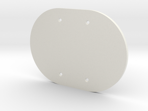 plodes® 2 Gang Blank Outlet Wall Plate in White Natural Versatile Plastic