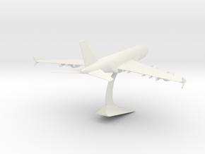 Airbus A380-0.125 in White Natural Versatile Plastic