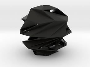 Vase in Black Natural Versatile Plastic