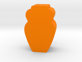 Game Piece, Ancient Vase in Orange Strong & Flexible Polished