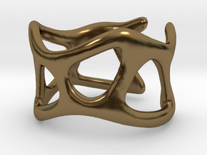 Wave Ring in Polished Bronze