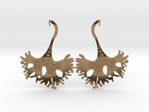 IrishMoss Earrings in Natural Brass
