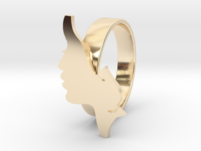 Facial ring -size 7 in 14k Gold Plated Brass