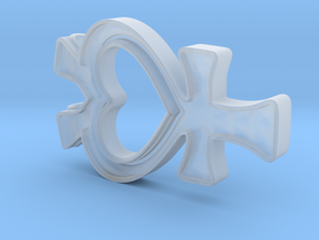 Sailor Mercury Symbol Pendant in Smooth Fine Detail Plastic