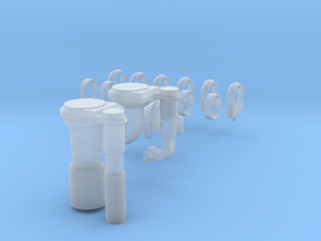 3d Shuttle Fuel Line Fitting in Smooth Fine Detail Plastic