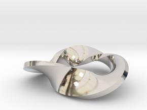 trefoil moebius pendant in Platinum