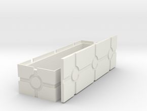Shallow Blaster Crate, revised in White Natural Versatile Plastic