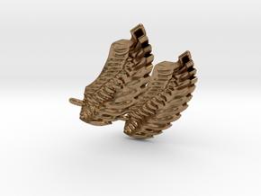 Wings Earrings in Natural Brass