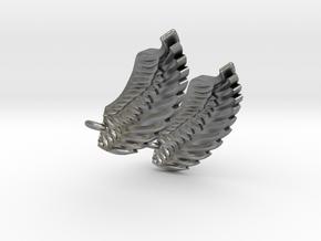 Wings Earrings in Natural Silver