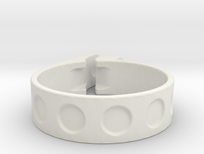 40mm clamp in White Strong & Flexible