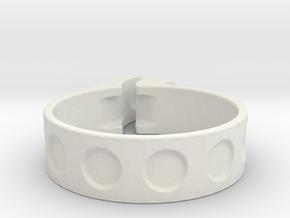 40mm clamp in White Natural Versatile Plastic