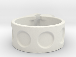 1 inch (25,4mm) clamp in White Natural Versatile Plastic