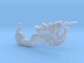 Medieval Dragon - left part of St George in Smooth Fine Detail Plastic