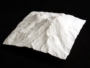6'' Mt. Shasta Terrain Model, California, USA in White Strong & Flexible