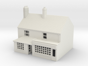 TFS-20 N Scale Topsham Fore Street building 1:148 in White Strong & Flexible