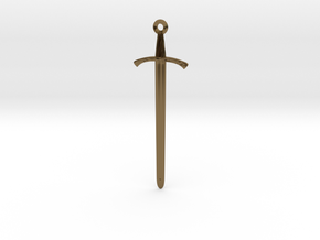 The Footman's Blade - Classic Sword Pendant in Polished Bronze