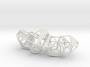 Voronoi Pendent in White Natural Versatile Plastic