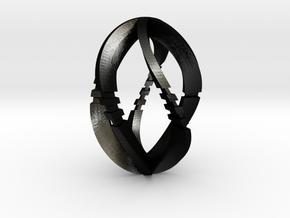 Modern Art D5 / 5-Sided Die in Matte Black Steel