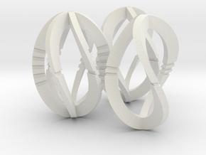 Modern Art Dice Set (Common Denominations) in White Natural Versatile Plastic