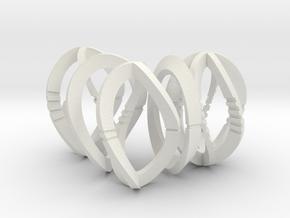 Modern Art Dice Set (D1, D2, D3, D4, D6) in White Natural Versatile Plastic