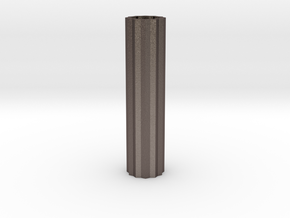 Cog Modern Vase Tall 1:12 scale in Polished Bronzed Silver Steel