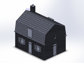 Arbeidershuis N in Smooth Fine Detail Plastic