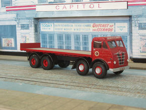 1:43 Foden  1948 FG Cab & 8 Wheel Chassis  in White Strong & Flexible Polished