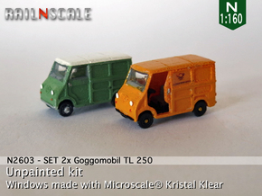 SET 2x Goggomobil Transporter (N 1:160) in Frosted Ultra Detail