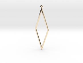 Rhombus Earrings in 14K Yellow Gold