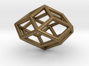Rhombic Icosahedron Pendant in Natural Bronze