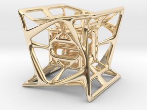 Hypercube in 14K Yellow Gold