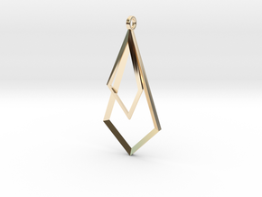 Trig Earrings in 14K Yellow Gold