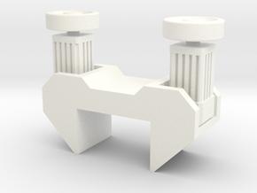 Transfer motor bloc small in White Processed Versatile Plastic