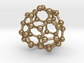 0095 Fullerene c38-14 c1 in Polished Gold Steel