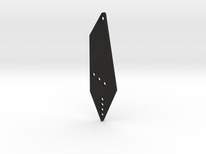 Tie Earrings in Black Acrylic